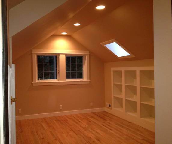 Attic to home office remodel - Fletcher Bay Bainbridge Island