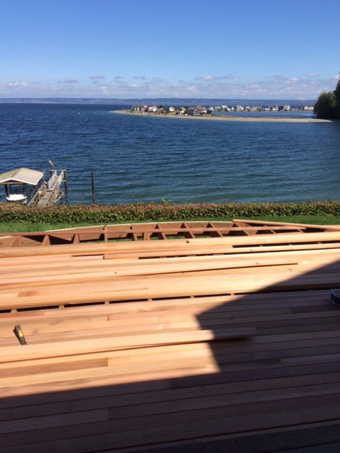 Elliptical deck replacement - Port Madison Bainbridge Island