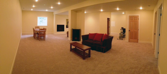 Unfinished basement remodeled into a two bedroom, one bath apartment. (Sunrise Dr Bainbridge Island)